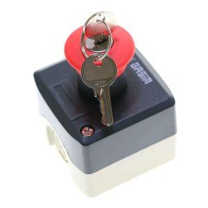 شاسی قارچی قفل شو کلید دار همراه با جعبه گسیم (پوش باتن)
