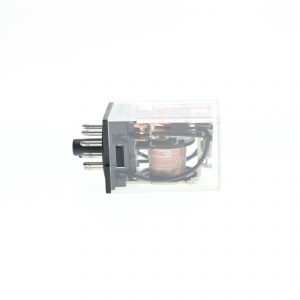 رله شیشه ای 220 ولت AC(ای سی) 11 پایه طرح امرن