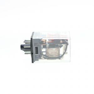 رله شیشه ای 24 ولت DC(دی سی) 8 پایه طرح امرن