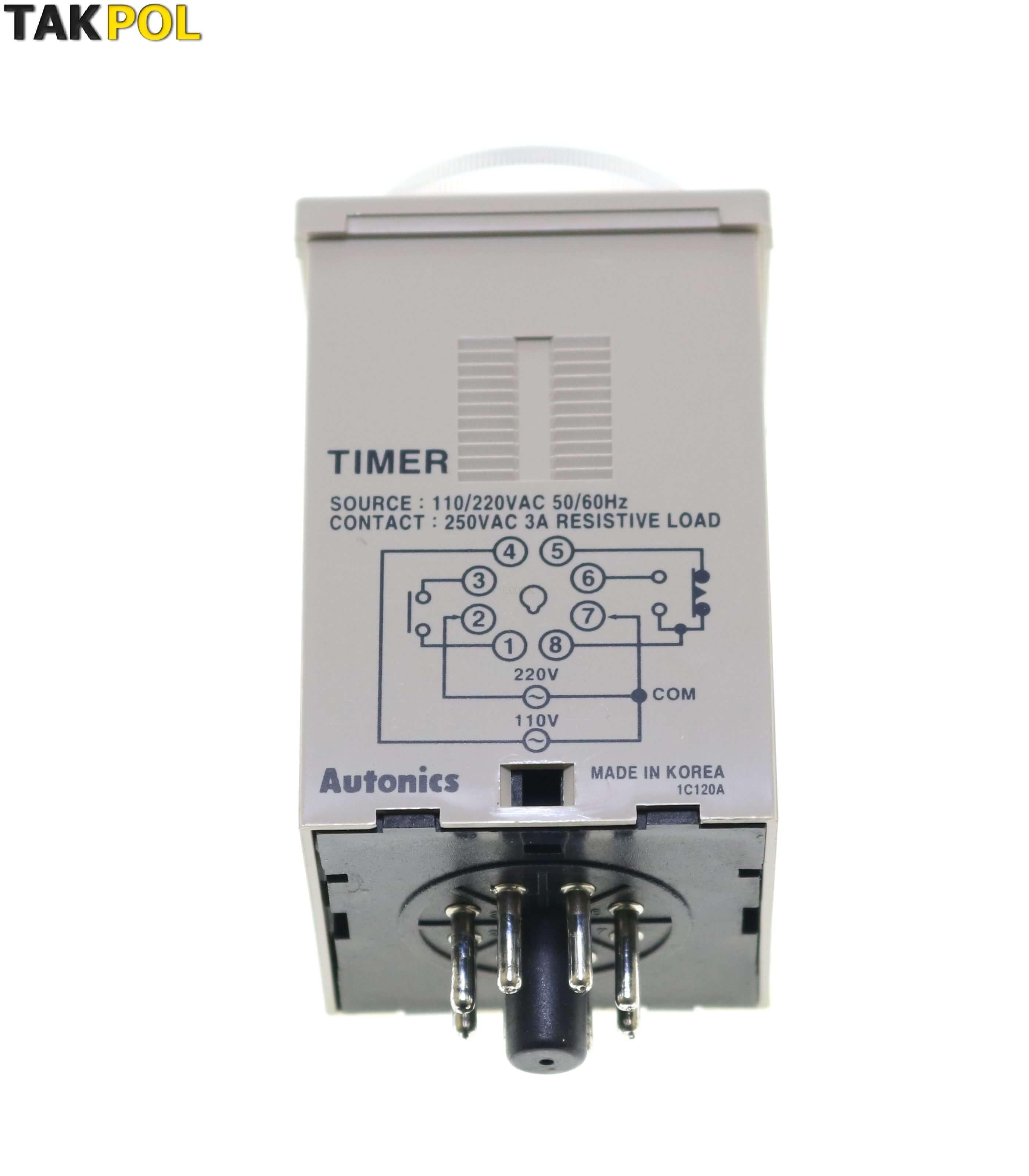 تایمر 30دقیقه آتونیکس(autonics) مدلATE-30M