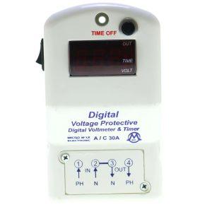 محافظ ترمینالی (پایه کنتوری) 30 آمپر دیجیتال مدل1LD میکرو مکس
